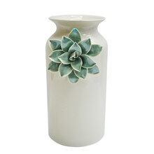 Blue Flower Ceramic Vase By Ashland