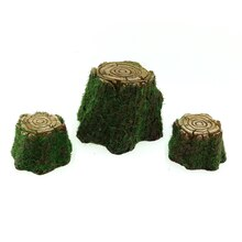 Miniature Spring Stump Table & Stools By Celebrate It