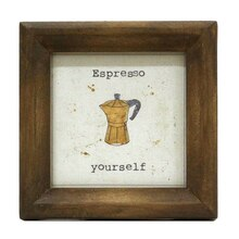 Espresso Mini Sentiment Frame By Studio Decor