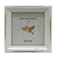 yellow winged bird mini sentiment frame by studio decor - Yellow Picture Frame