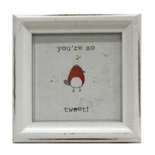 red tweet bird mini sentiment frame by studio decor