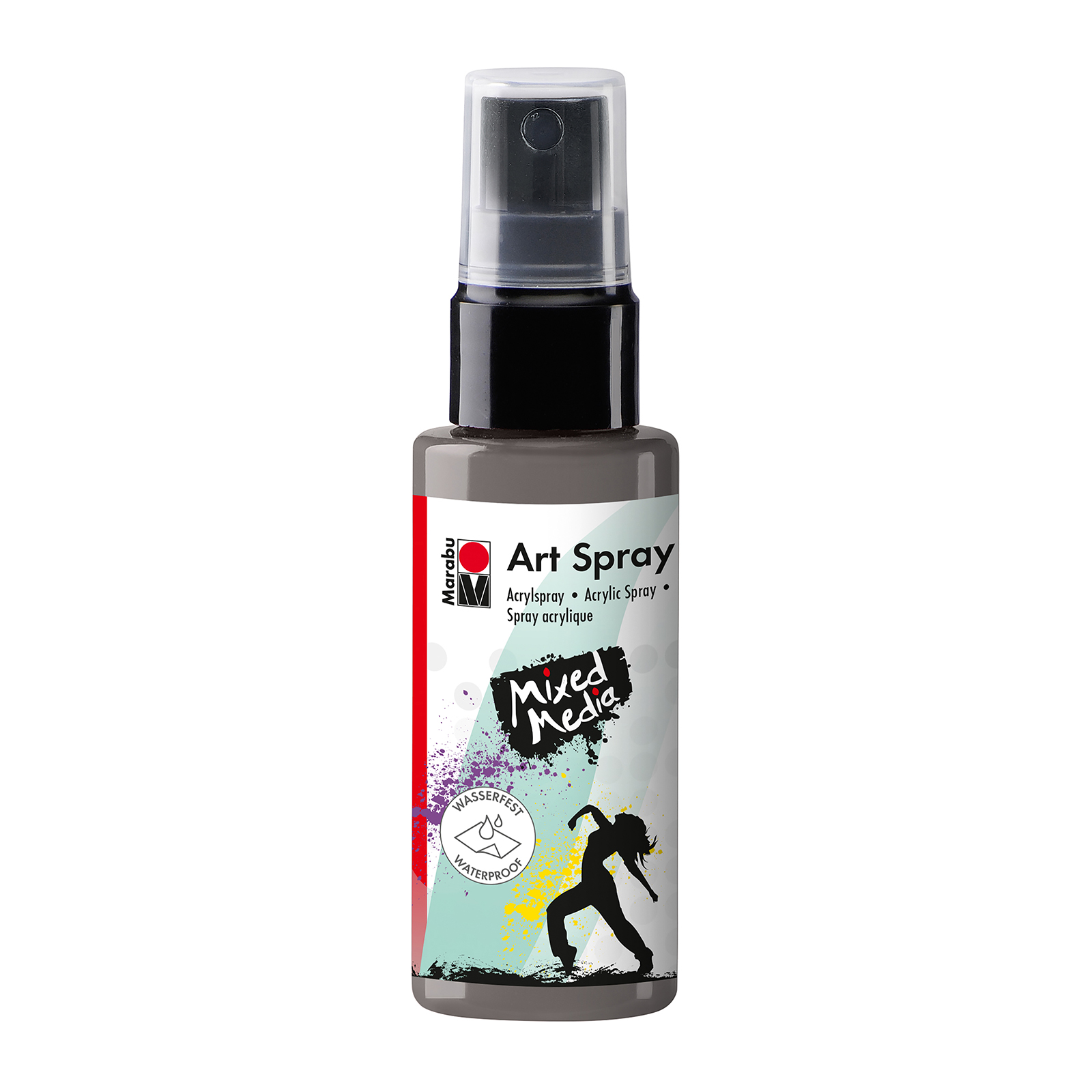 marabu art spray acrylic paint gray