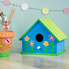 Kids' Painted Birdhouse, medium