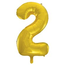 "34"" Foil Gold 2 Number Balloon"