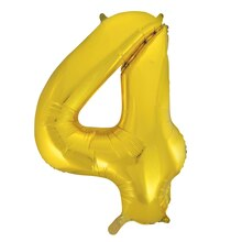 "34"" Foil Gold 4 Number Balloon"