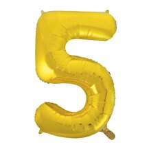 "34"" Foil Gold 5 Number Balloon"