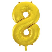 "34"" Foil Gold 8 Number Balloon"