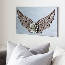 Stained Angel Wing Wall Art, medium
