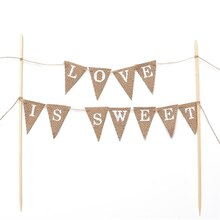 Rustic Banner Cake Topper