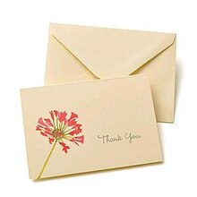 Ivory and Pink Floral Thank You Cards
