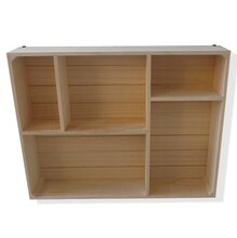 Large Rectangular Natural Wood Cubby By ArtMinds