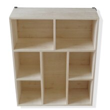Small Rectangular Natural Wood Cubby By ArtMinds