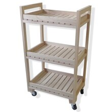 Natural 3-Tier Wood Rolling Cart By ArtMinds