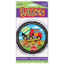 "Foil Construction Truck Party Balloon, 18"" Packaged"