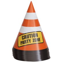 Traffic Cone Construction Truck Party Table Decorations, 8ct