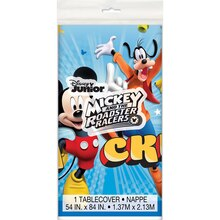 "Plastic Mickey Mouse Tablecloth, 84"" x 54"" Package"