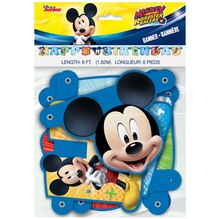 Mickey Mouse Birthday Banner, 6 Ft Packaged