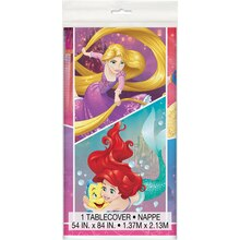 "Plastic Disney Princess Tablecloth, 84"" x 54"""
