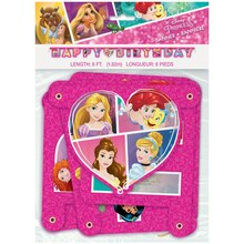 Disney Princess Birthday Banner, 6 Ft Packaged