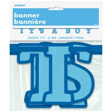 It's A Boy Baby Shower Banner, 7 Ft Packaged