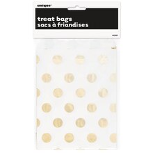 Foil Gold Polka Dot Paper Cookie Bags, 8ct