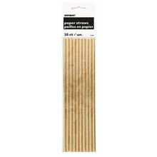 Foil Gold Paper Straws, 10ct