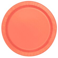 "7"" Coral Party Plates, 20ct"