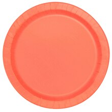 "9"" Coral Party Plates, 16ct"