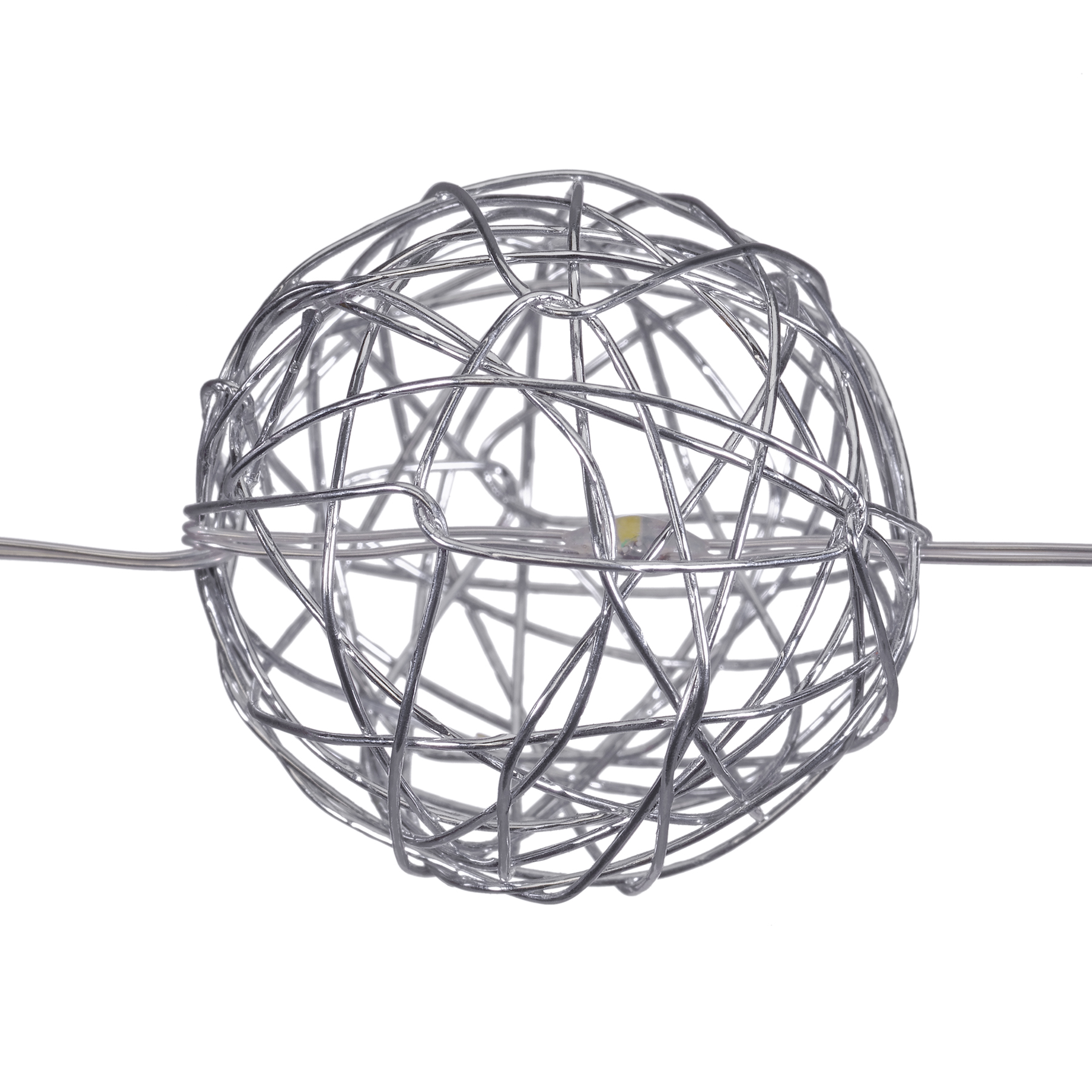 Buy the Silver Wire Ball LED Lights By Ashland™ at Michaels
