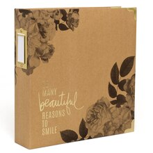 Heidi Swapp Storyline D-Ring Photo Album Kit, Floral Spine