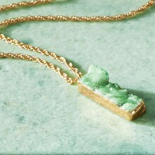 Mint Druzy Necklace, medium