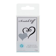 Double Heart Bridal Scratch Off Cards Packaged