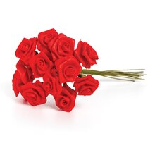 Ribbon Rose Bunch, Red