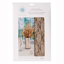 Victoria Lynn Adhesive Glitter Overlay, Silver Package