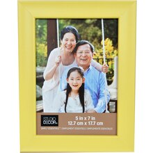 "Simply Essentials 5"" x 7"" Yellow Scoop Frame By Studio Decor"
