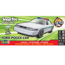 Revell SnapTite Build & Play Ford Police Car Plastic Model Kit Package
