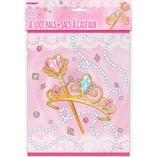 Jeweled Pink Princess Goodie Bags, 8ct Packaged