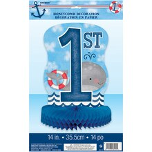 "Nautical 1st Birthday Centerpiece Decoration, 14"" Packaged"
