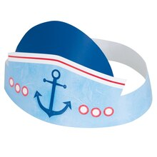 Nautical 1st Birthday Party Hats, 6ct