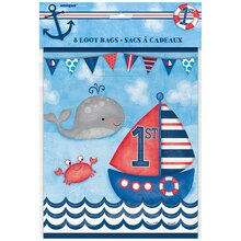 Nautical 1st Birthday Goodie Bags, 8ct Packaged