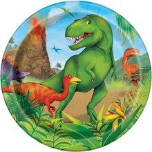 "7"" Dinosaur Party Plates, 8ct"