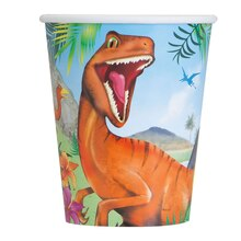 9oz Dinosaur Paper Cups, 8ct