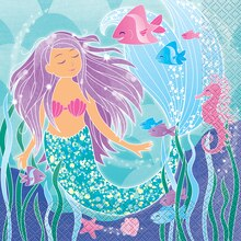 Mermaid Luncheon Napkins, 16ct