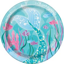 "7"" Mermaid Party Plates, 8ct"