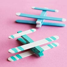 Kids' Craft Stick Airplanes, medium