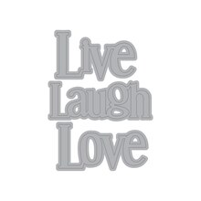 Live Laugh Love Cutting Dies By Recollections