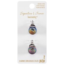 Signature Color Shop Blue Druzy Ball Charms By Bead Landing