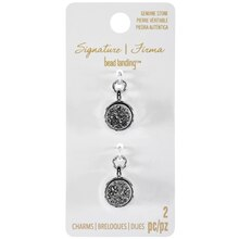Signature Color Shop Silver Druzy Round Charms By Bead Landing
