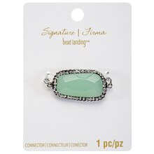 Signature Color Shop Mint Glass Connector By Bead Landing