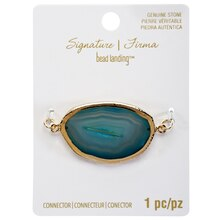 Signature Color Shop Turquoise Agate Connector By Bead Landing